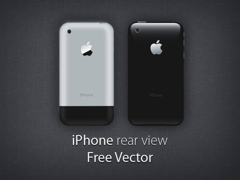 free vector IPhone - Rear view