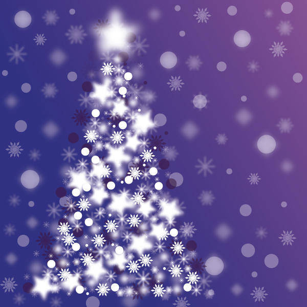 Sparkle Christmas Tree Vector