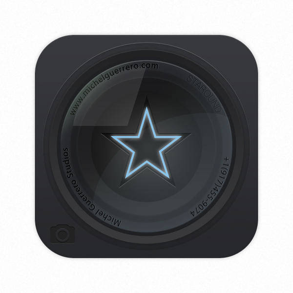 Star Lens Icon Vector