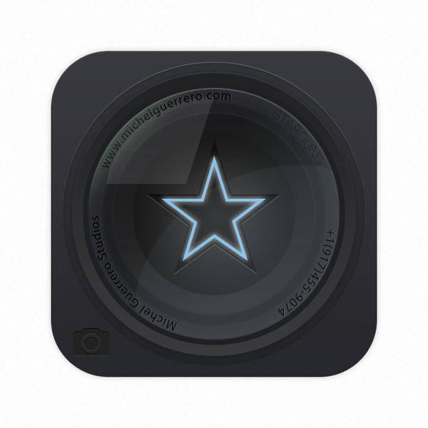 free vector Star Lens Icon Vector