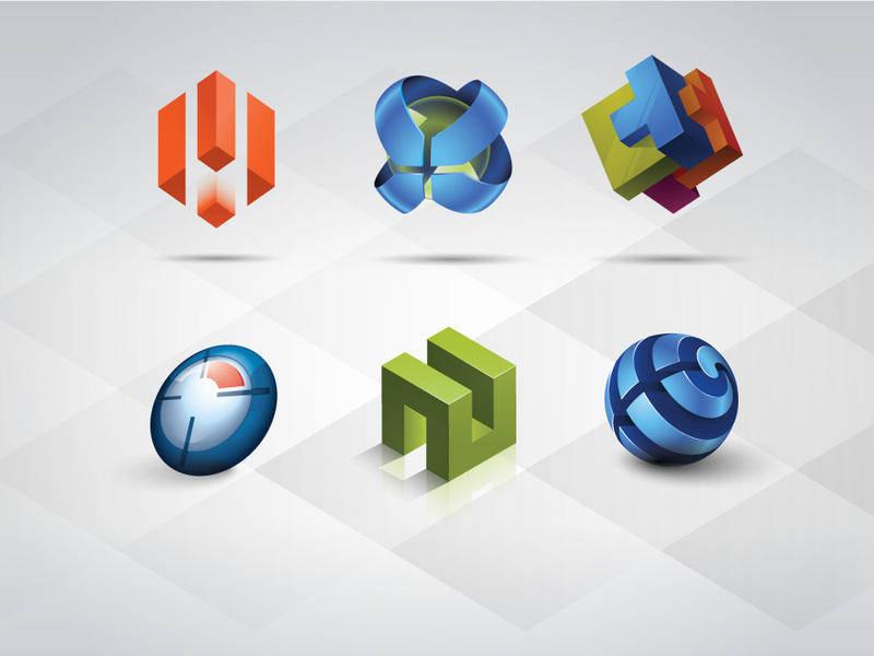 3D Logo Templates Set