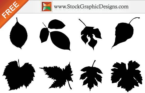 free vector Free Leaf Silhouettes Vector  Set