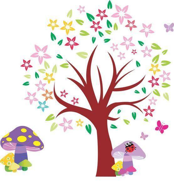 free vector Arbol Blooming Tree Vector