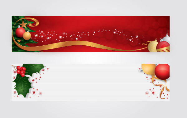 free vector Christmas Headers