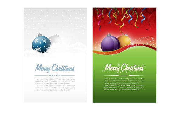 free vector Christmas Card Vector or Flyer