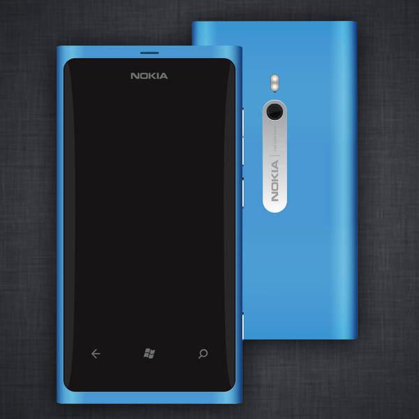 free vector Nokia Lumia 800