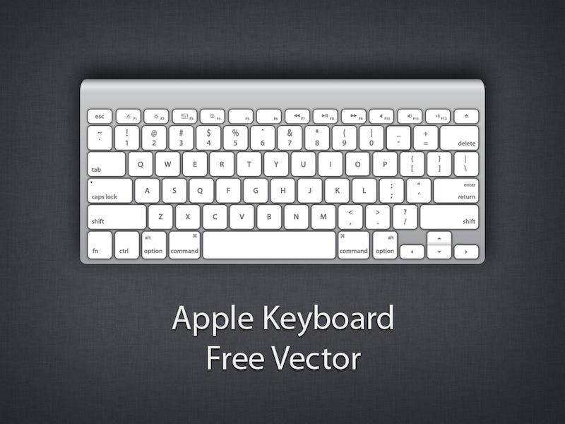 free vector Apple wireless keyboard