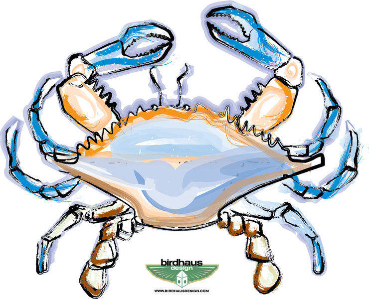 free vector Blue Crab