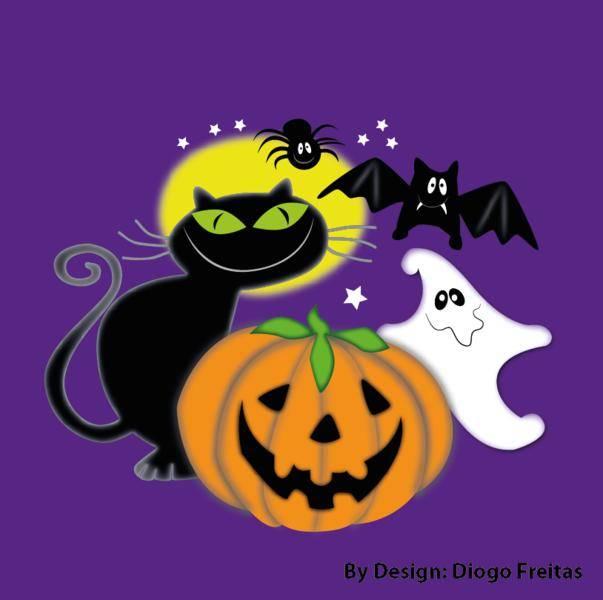 Halloween Vectors - Gato preto