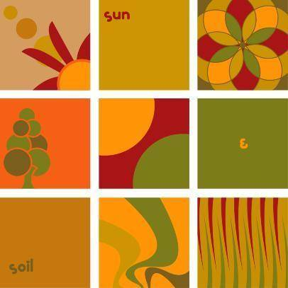 free vector Sun and soil