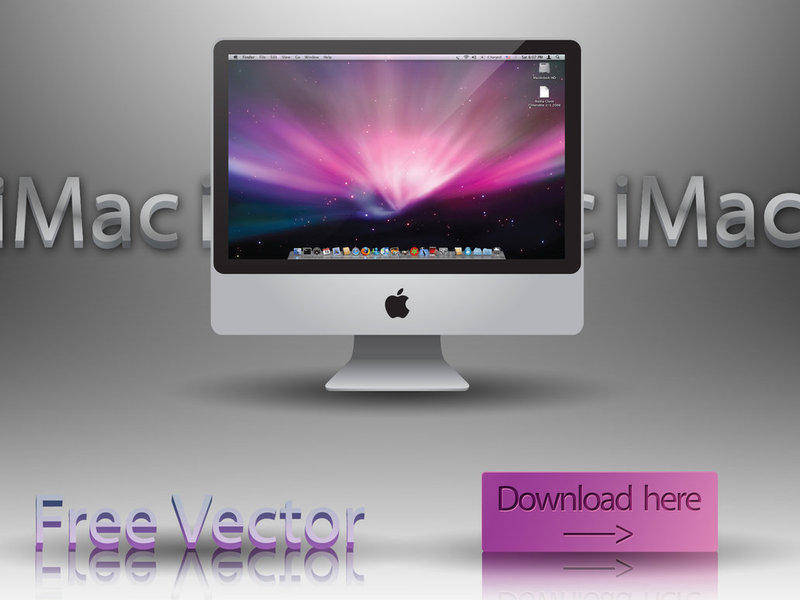 free vector Apple iMac 24'