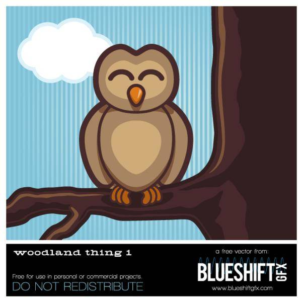 free vector Woodland Owl Vector