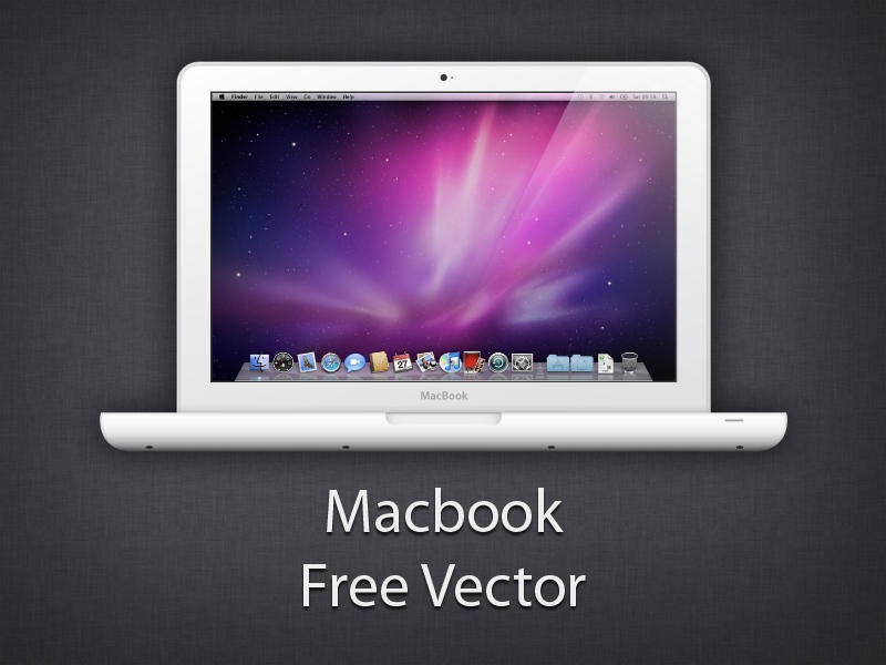 free vector MacBook White