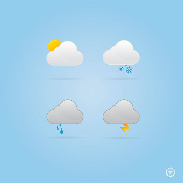free vector Cloud Weather Icons Vectors
