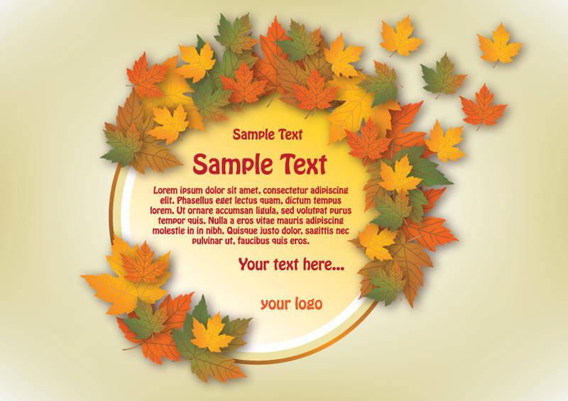 free vector Autumn Vector Banner Circle Design