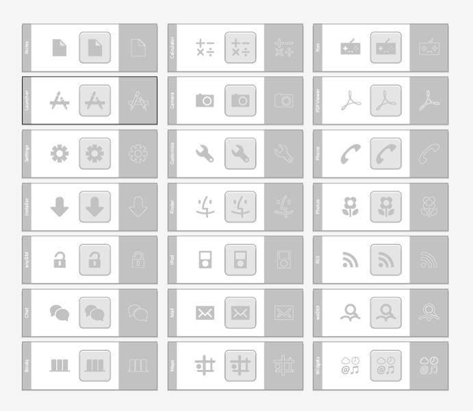 Grey Icons