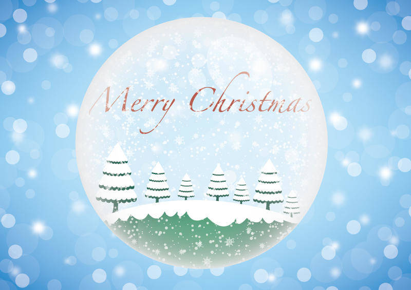 free vector Christmas winter glass ball vector