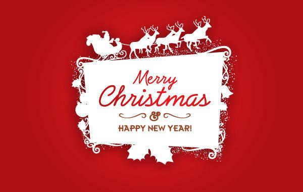 free vector Christmas Logo Vector Frame