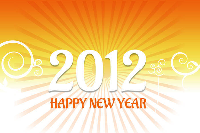 free vector 2012 New Year Card Vector