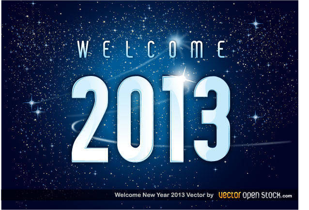 free vector Welcome 2013 New Year Vector