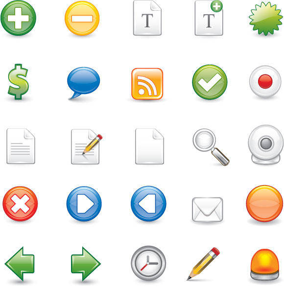 free vector 25 scalable Illustrator format icons