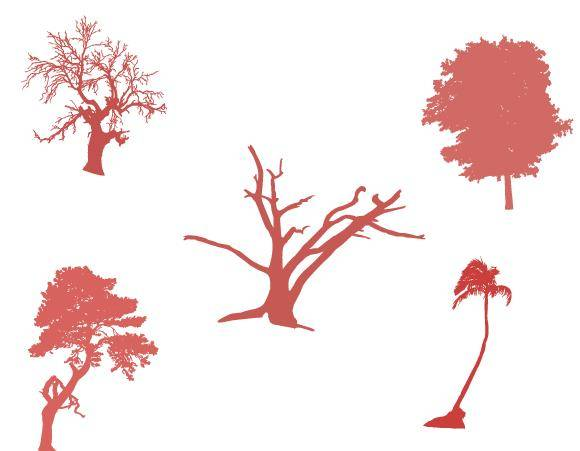 free vector Tree Vector Set