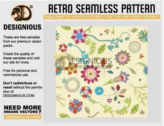 free vector Retro seamless pattern