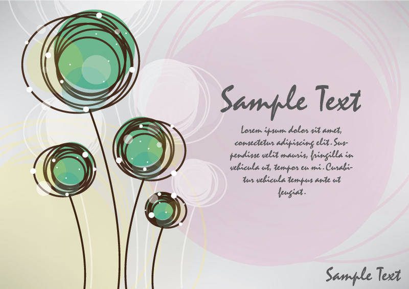 free vector Abstract flowers card design