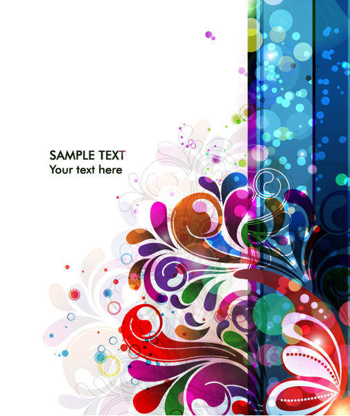 Abstract Background Vector Colorful Background