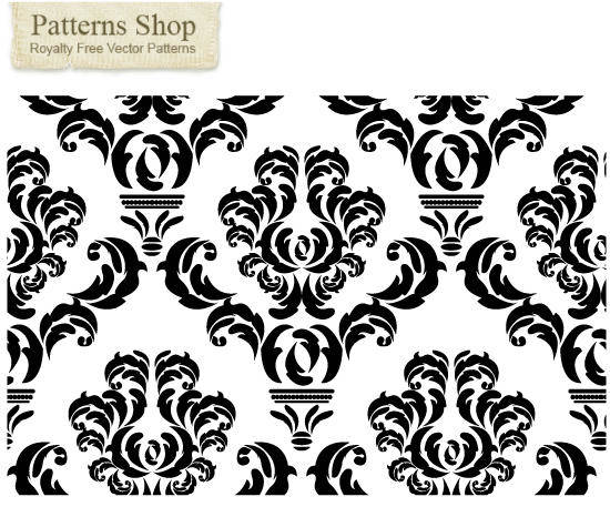 free vector Free damask vector pattern  2