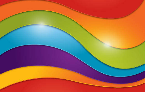 free vector Wavy Rainbow Background