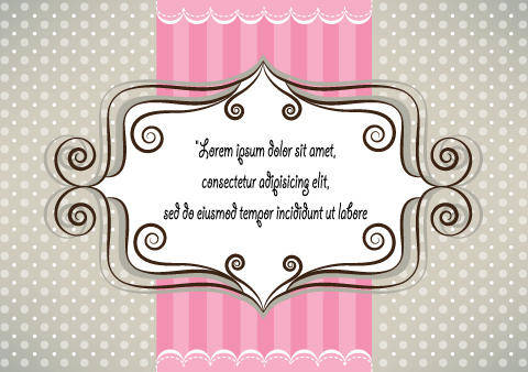 free vector Lovely pink and gray card design
