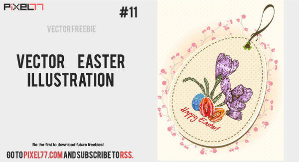 free vector Vector Easter Illustration