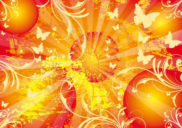 free vector Sun Vector Background Sunny Life Poster