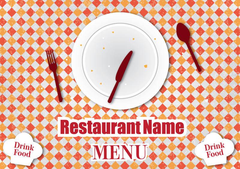 free vector Retro restaurant menu design