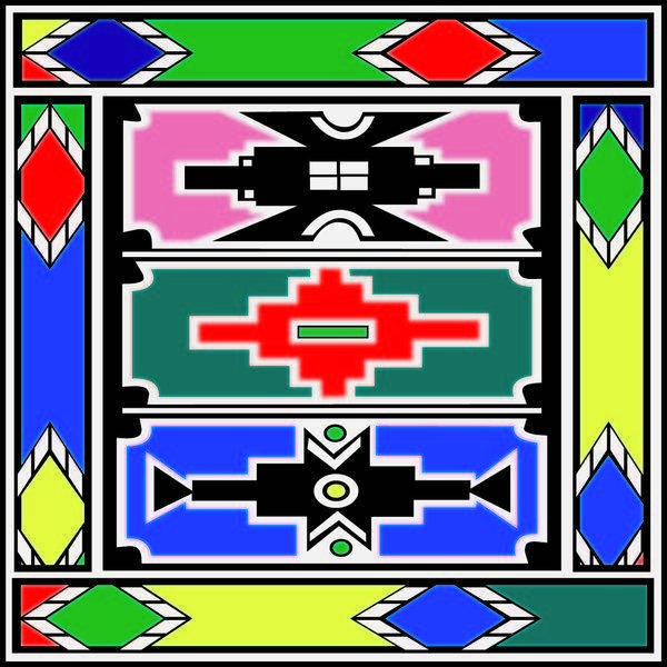 free vector Vector Background Ndebele Artwork
