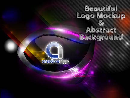 free vector Background Vector with Beautiful Logo Mockup