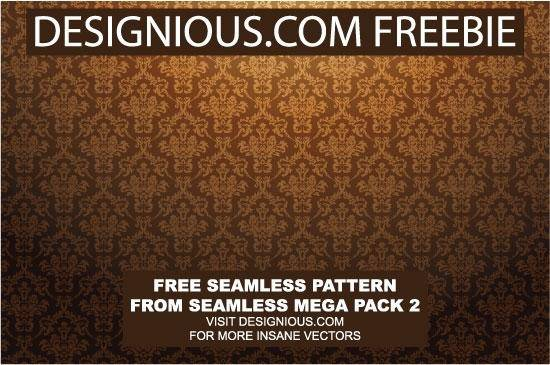 free vector Free damask vector pattern