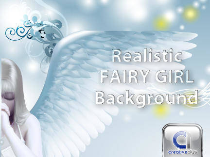 free vector Girl Vector Fairy with Creative Background