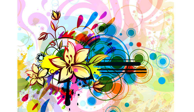 Free abstract floral illustration
