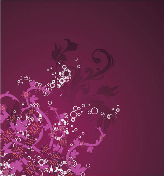 Beautiful purple floral background