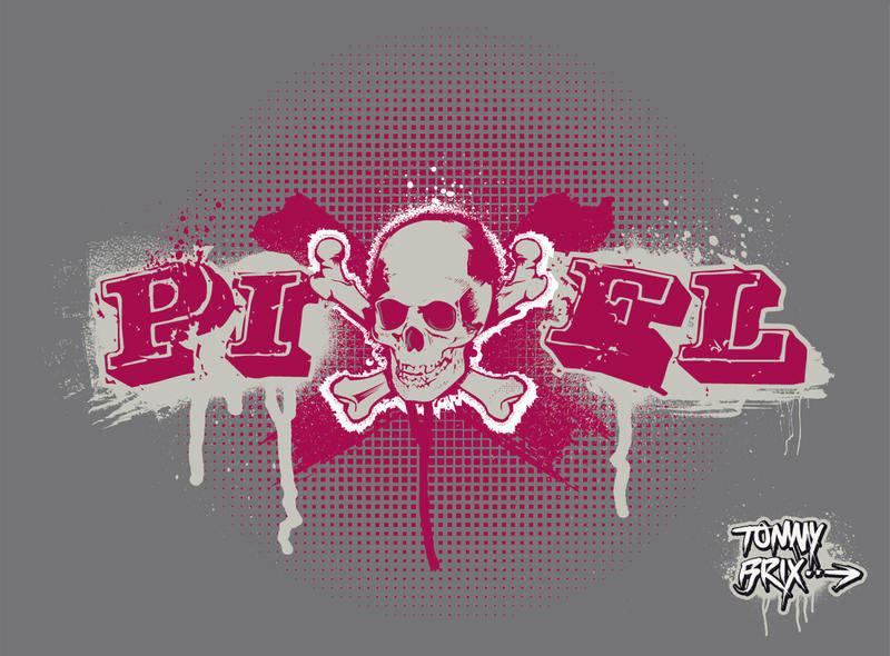 PIXEL SKULL - design Tommy Brix