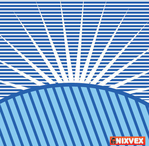 VixVex Free Vector Op Art Background with Sun Burst