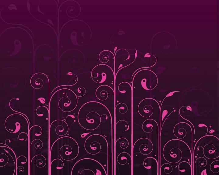 free vector Vector Swirls Flower Pattern