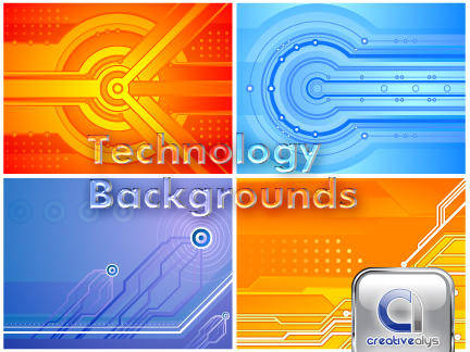 free vector Technology Backgrounds