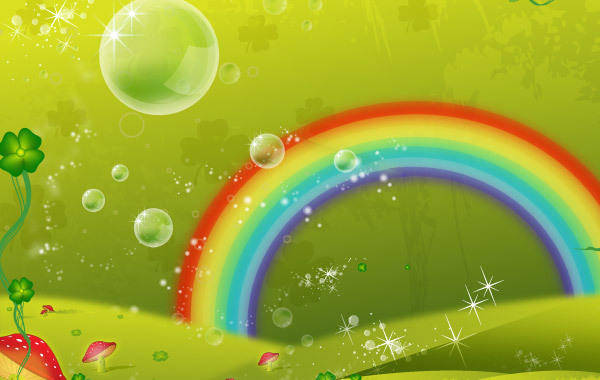 free vector Clover Leaf Rainbow Valley