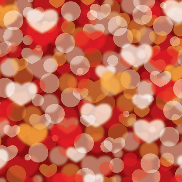 free vector Valentines Defocus Background