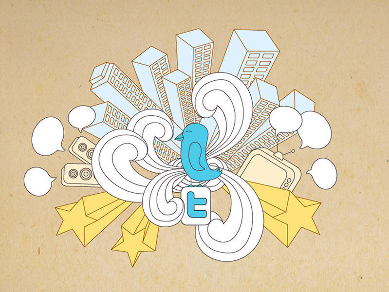 free vector Twitter Vector - Twitter World Background Vector