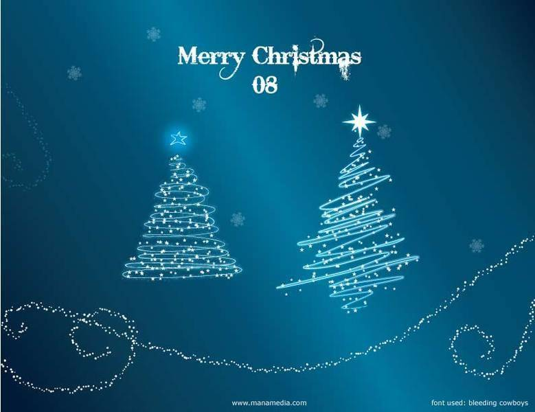 Christmas Tree Vector - Christmas Trees with Snow Wallpaper