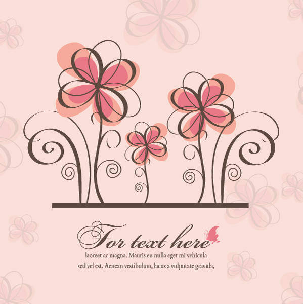 free vector Vector spring floral background